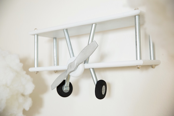 """Airplane Wall Decoration from a """"Time Flies"""" Vintage Travel Birthday Party on Kara's Party Ideas 
