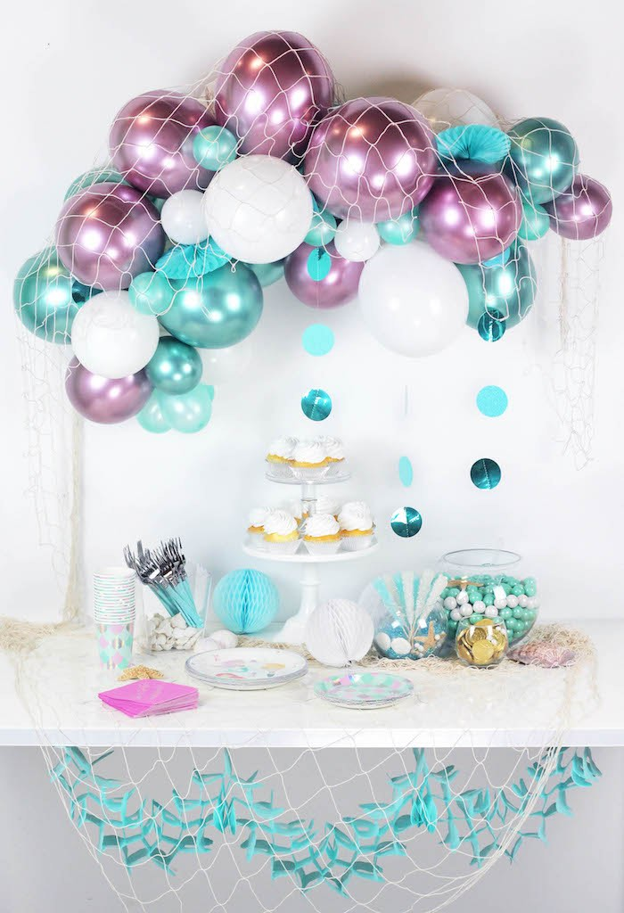 """Wish We Were Mermaids"" Birthday Party on Kara's Party Ideas   KarasPartyIdeas.com (23)"