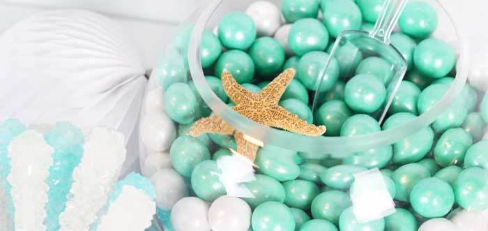 """Wish We Were Mermaids"" Birthday Party on Kara's Party Ideas | KarasPartyIdeas.com (2)"