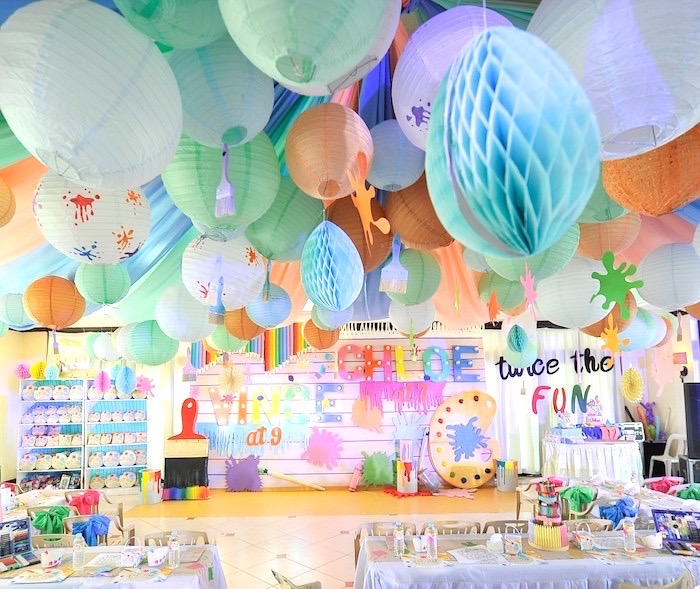 Arts & Crafts Joint Birthday Party on Kara's Party Ideas | KarasPartyIdeas.com (20)