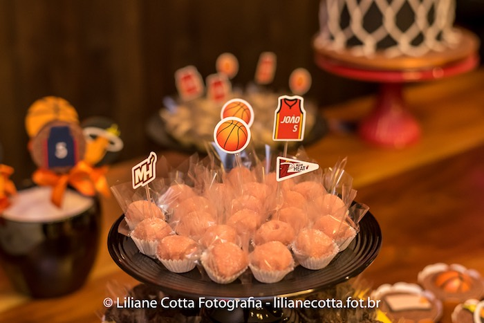 Sweets from a Basketball Birthday Party on Kara's Party Ideas | KarasPartyIdeas.com (11)