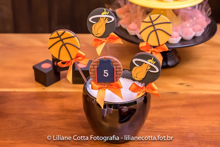 Chocolate Basketball Lollipops from a Basketball Birthday Party on Kara's Party Ideas | KarasPartyIdeas.com (10)