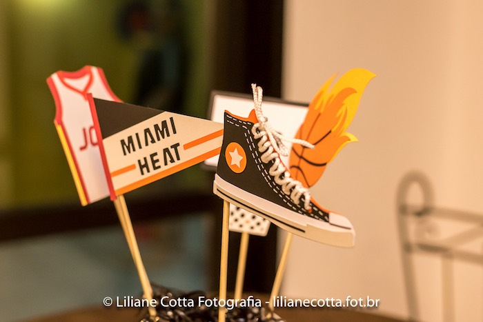 Basketball Themed Sticks from a Basketball Birthday Party on Kara's Party Ideas | KarasPartyIdeas.com (8)