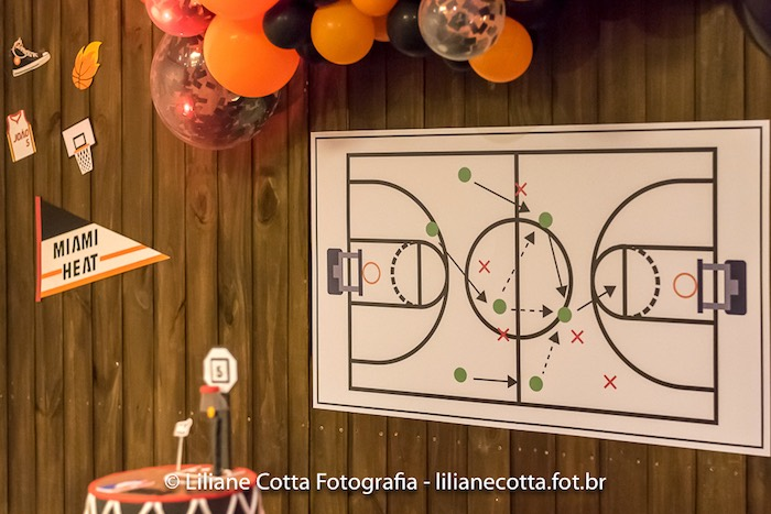 Basketball Play Board from a Basketball Birthday Party on Kara's Party Ideas | KarasPartyIdeas.com (7)