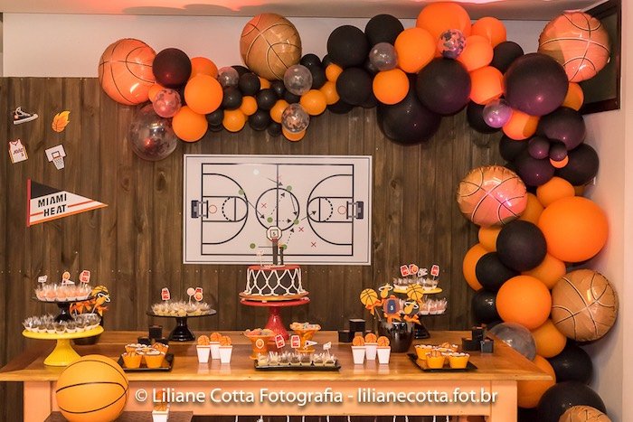 Basketball Themed Dessert Table From A Birthday Party On Karas Ideas