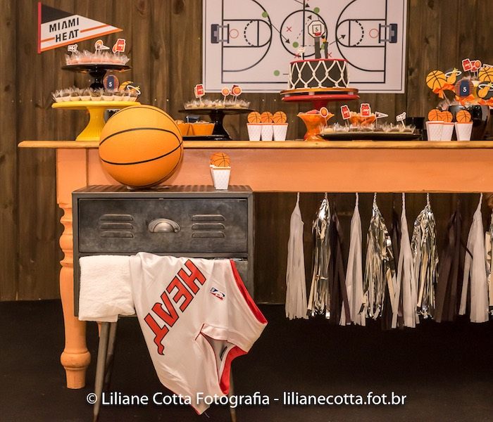 Basketball Sweet Table from a Basketball Birthday Party on Kara's Party Ideas | KarasPartyIdeas.com (17)