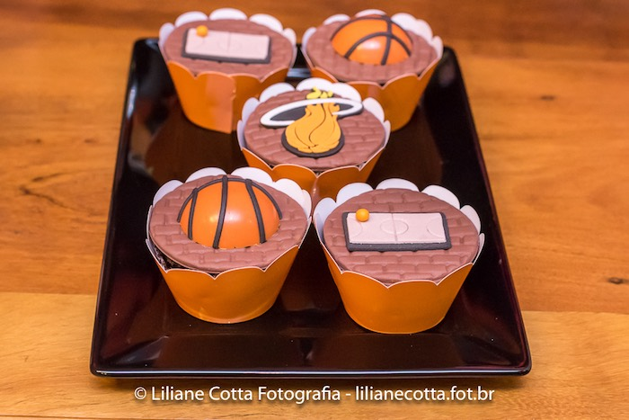 Basketball Themed Cupcakes from a Basketball Birthday Party on Kara's Party Ideas | KarasPartyIdeas.com (15)