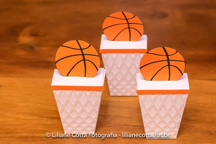 Basketball Themed Dessert Cups from a Basketball Birthday Party on Kara's Party Ideas | KarasPartyIdeas.com (13)