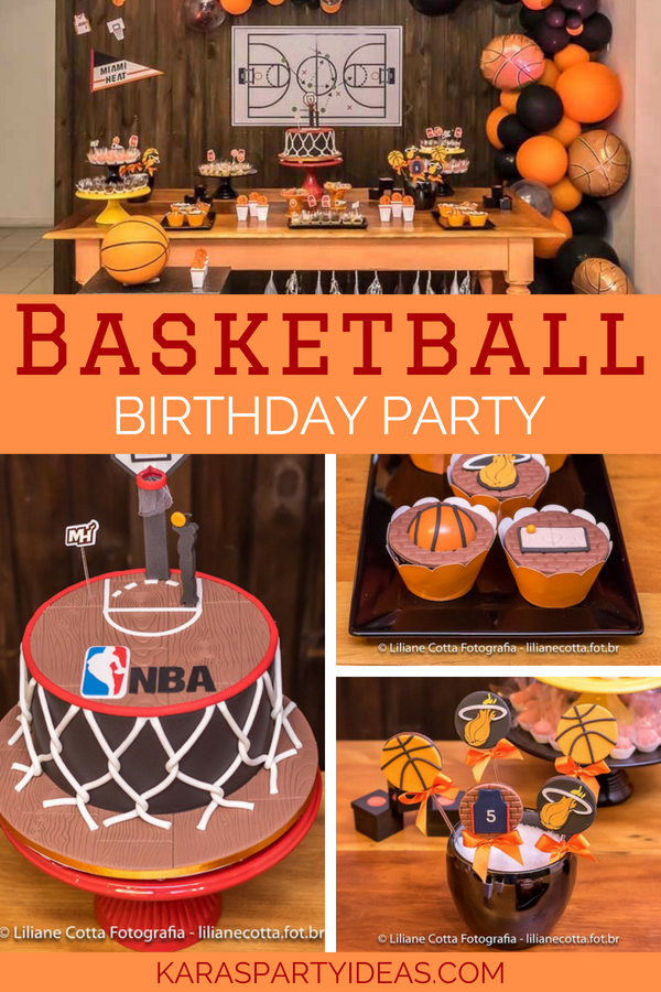 Basketball Birthday Party via KarasPartyIdeas - KarasPartyIdeas.com