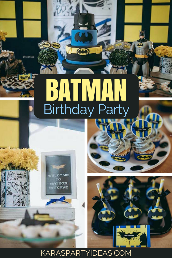 Batman Birthday Party via Kara_s Party Ideas - KarasPartyIdeas.com