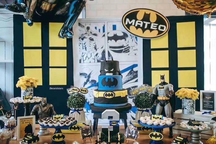 Batman Themed Dessert Table from a Batman Birthday Party on Kara's Party Ideas | KarasPartyIdeas.com (6)