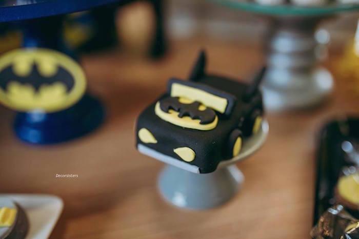 Mini Batmobile Cake from a Batman Birthday Party on Kara's Party Ideas | KarasPartyIdeas.com (5)