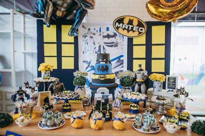 Batman Themed Dessert Table from a Batman Birthday Party on Kara's Party Ideas | KarasPartyIdeas.com (4)