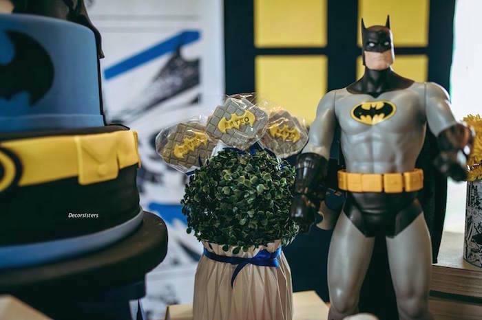 Batman Lollipops from a Batman Birthday Party on Kara's Party Ideas | KarasPartyIdeas.com (10)