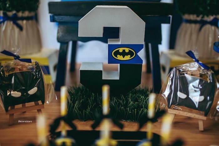 Batman Block Number from a Batman Birthday Party on Kara's Party Ideas | KarasPartyIdeas.com (8)