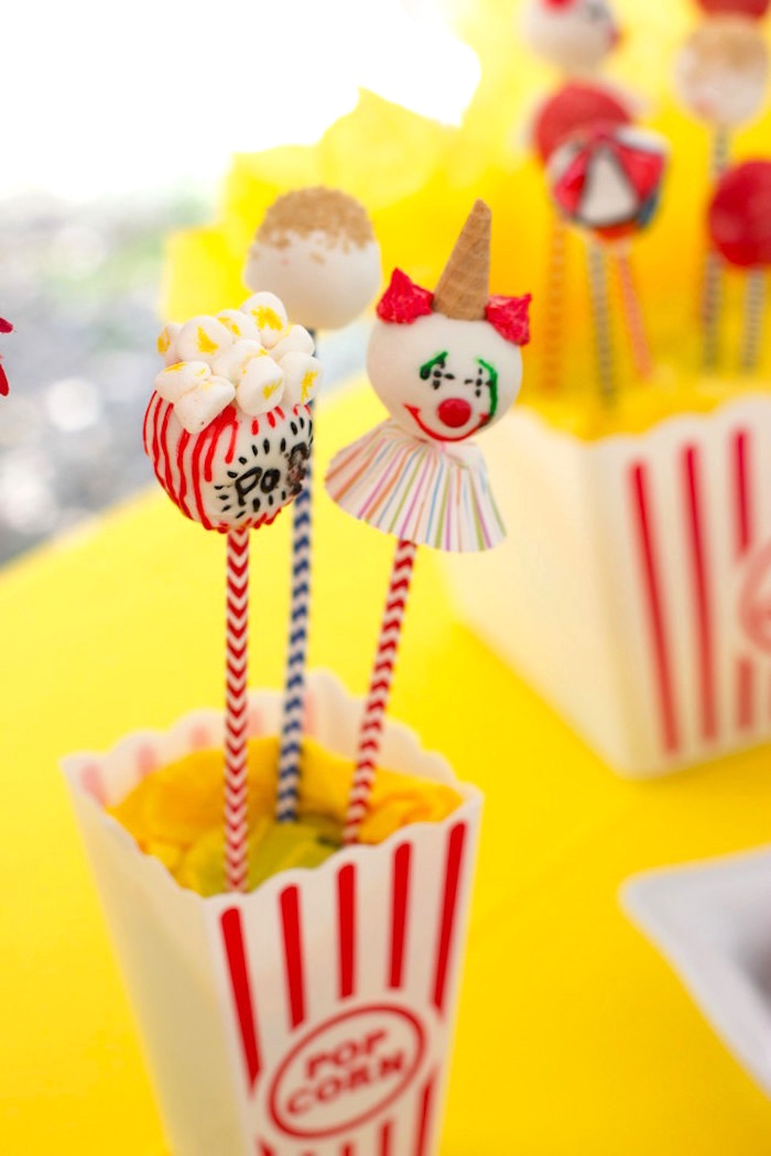 Circus Themed Cupcakes from a Big Top Circus Birthday Party on Kara's Party Ideas | KarasPartyIdeas.com (14)