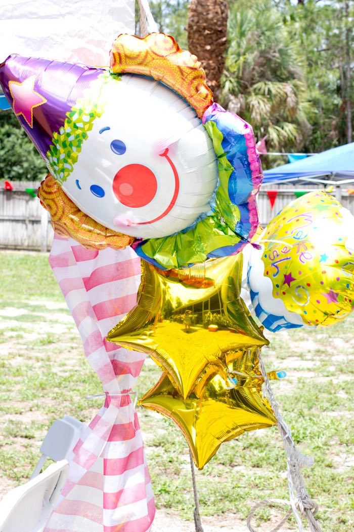 Circus Balloon Bunch from a Big Top Circus Birthday Party on Kara's Party Ideas | KarasPartyIdeas.com (9)