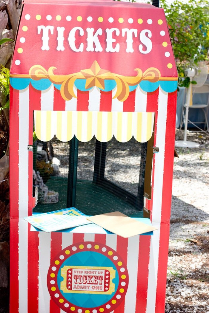 Ticket Booth from a Big Top Circus Birthday Party on Kara's Party Ideas | KarasPartyIdeas.com (8)