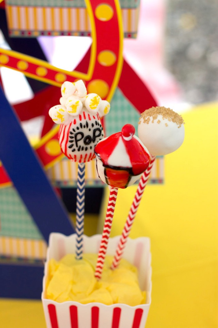 Circus Themed Cupcakes from a Big Top Circus Birthday Party on Kara's Party Ideas | KarasPartyIdeas.com (15)
