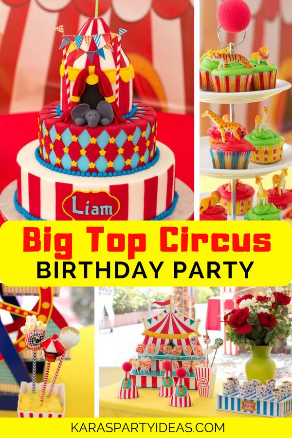 Big Top Circus Birthday Party via Kara's Party Ideas - KarasPartyIdeas.com
