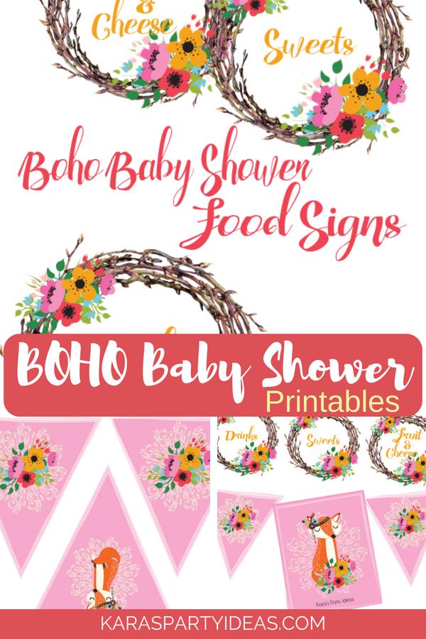 Boho Baby Shower Printables via KarasPartyIdeas - KarasPartyIdeas.com