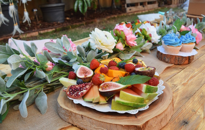 Fruit Platter from a Boho Baby Shower on Kara's Party Ideas | KarasPartyIdeas.com (25)