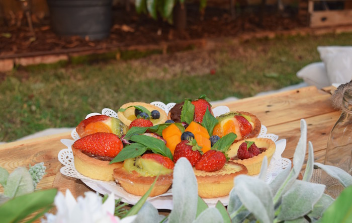 Fruit Tarts from a Boho Baby Shower on Kara's Party Ideas | KarasPartyIdeas.com (24)