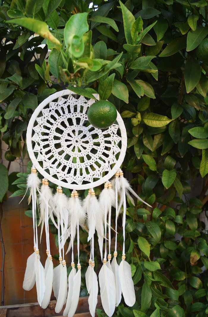Boho Dreamcatcher from a Boho Baby Shower on Kara's Party Ideas | KarasPartyIdeas.com (17)