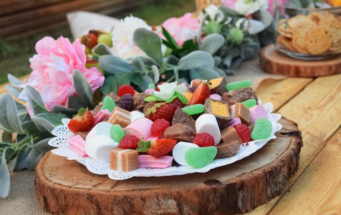 Sweet + Candy Tray from a Boho Baby Shower on Kara's Party Ideas | KarasPartyIdeas.com (16)