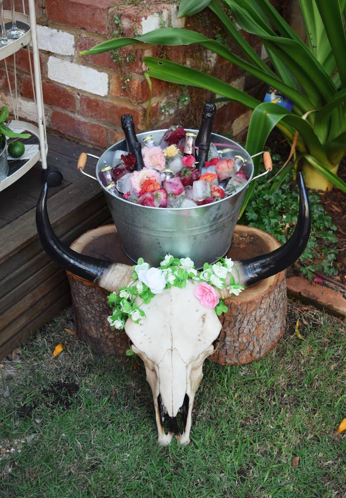 Drink Bin from a Boho Baby Shower on Kara's Party Ideas | KarasPartyIdeas.com (12)