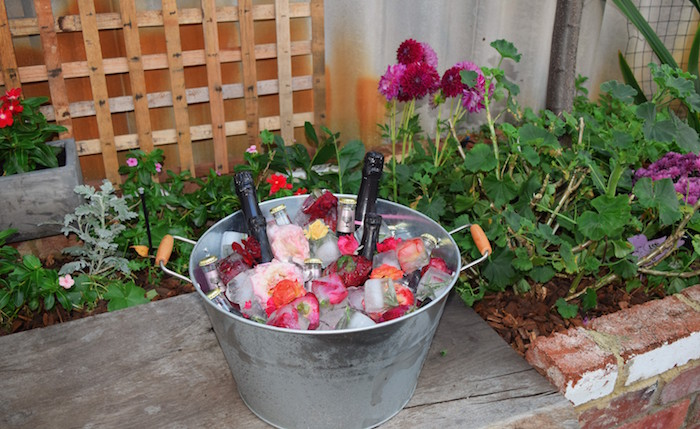Drink Tub from a Boho Baby Shower on Kara's Party Ideas | KarasPartyIdeas.com (9)