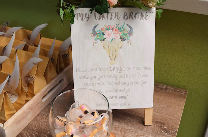 Boho Party Signage from a Boho Baby Shower on Kara's Party Ideas | KarasPartyIdeas.com (31)