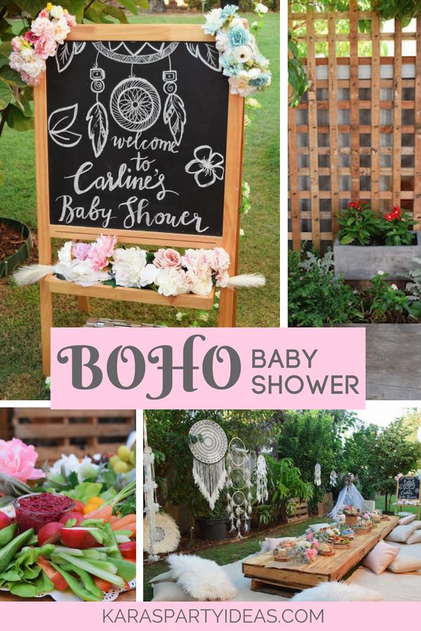 Boho Baby Shower via KarasPartyIdeas - KarasPartyIdeas.com