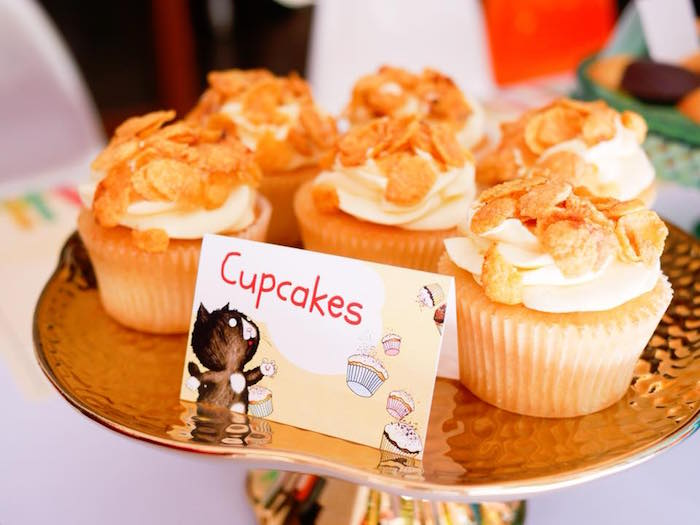 Cupcakes from a Bookworm Birthday Party on Kara's Party Ideas | KarasPartyIdeas.com (11)