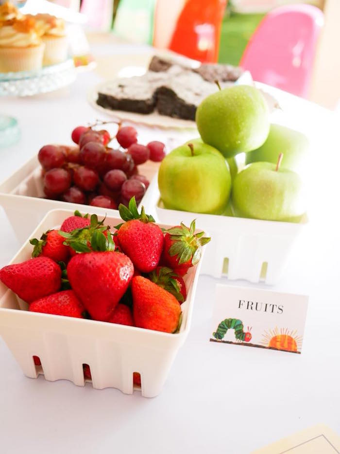Fruit Baskets from from a Bookworm Birthday Party on Kara's Party Ideas | KarasPartyIdeas.com (8)