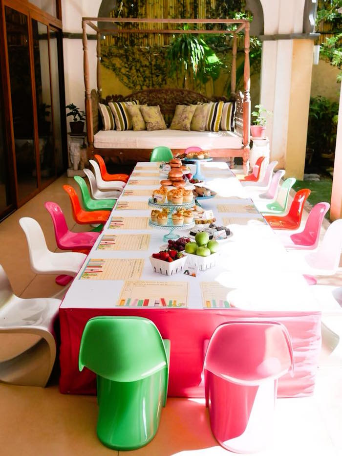 Guest Table from a Bookworm Birthday Party on Kara's Party Ideas | KarasPartyIdeas.com (6)