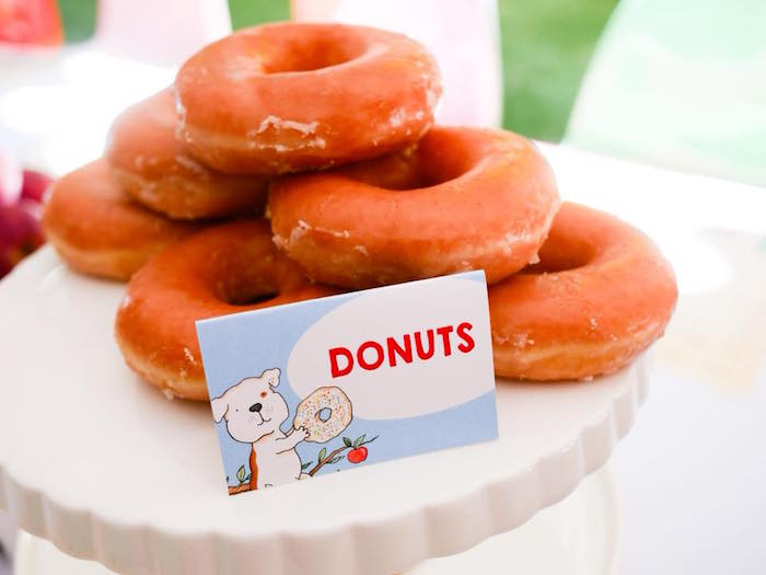 Donuts from a Bookworm Birthday Party on Kara's Party Ideas | KarasPartyIdeas.com (19)