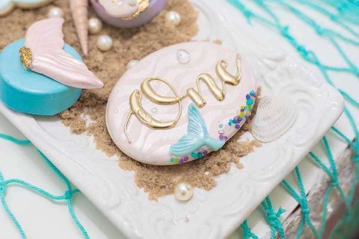 Under the Sea Mermaid Cookies from a Bubble Guppies Birthday Party on Kara's Party Ideas | KarasPartyIdeas.com (20)