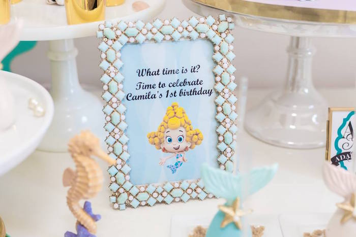Bubble Guppies Party Signage from a Bubble Guppies Birthday Party on Kara's Party Ideas | KarasPartyIdeas.com (18)