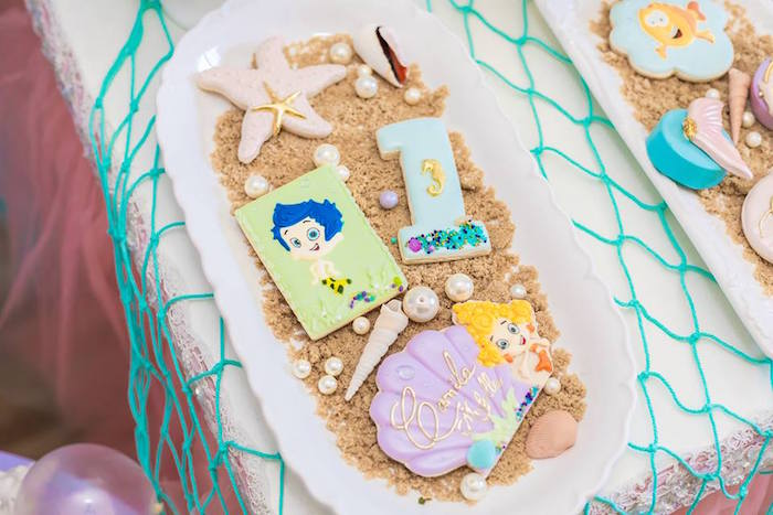 Bubble Guppies Cookies from a Bubble Guppies Birthday Party on Kara's Party Ideas | KarasPartyIdeas.com (9)
