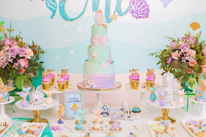 Under the Sea Dessert Table from a Bubble Guppies Birthday Party on Kara's Party Ideas | KarasPartyIdeas.com (6)