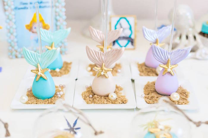 Mermaid Fin Cake Pops from a Bubble Guppies Birthday Party on Kara's Party Ideas | KarasPartyIdeas.com (29)