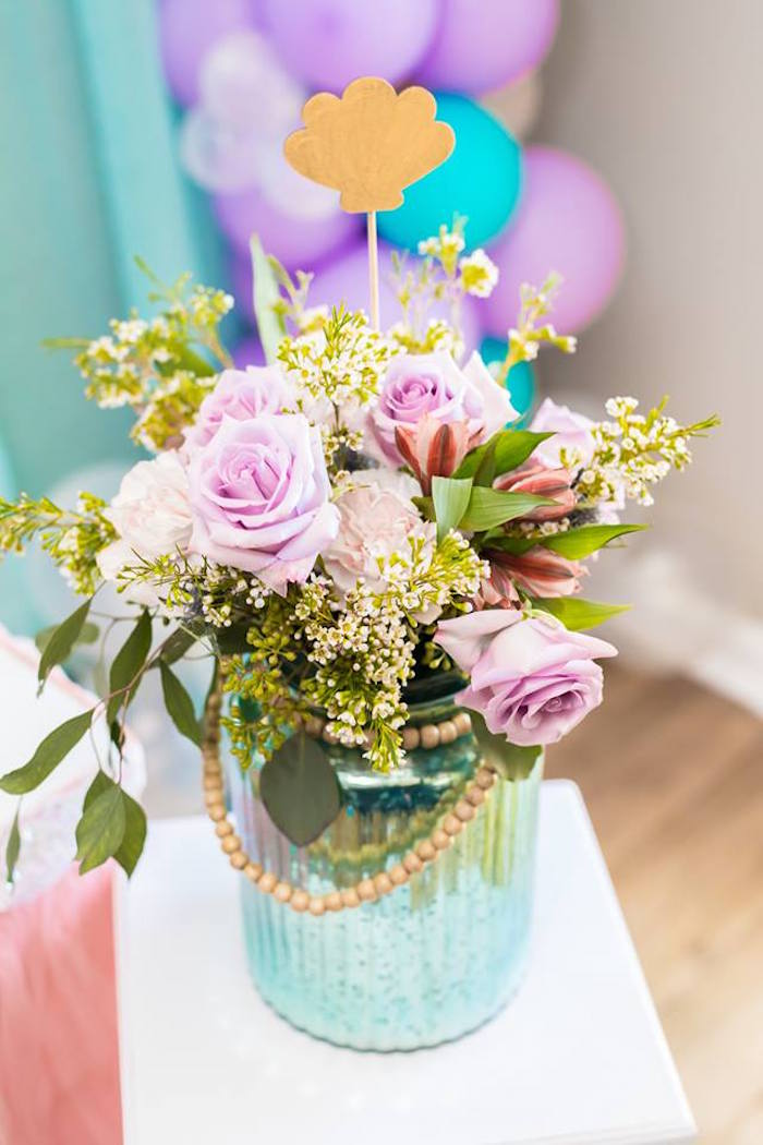 Under the Sea Floral Arrangement from a Bubble Guppies Birthday Party on Kara's Party Ideas | KarasPartyIdeas.com (27)