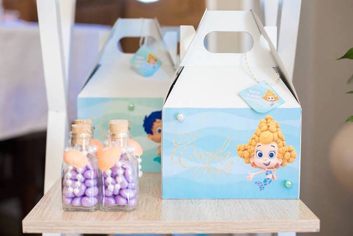 Bubble Guppies Gable Boxes from a Bubble Guppies Birthday Party on Kara's Party Ideas | KarasPartyIdeas.com (24)