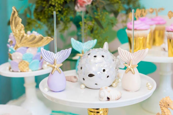 Mermaid Tail Cake Pops from a Bubble Guppies Birthday Party on Kara's Party Ideas | KarasPartyIdeas.com (23)