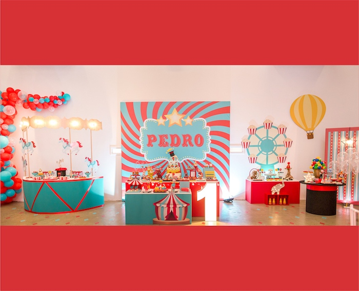 Circus + Amusement Park Birthday Party on Kara's Party Ideas | KarasPartyIdeas.com (6)