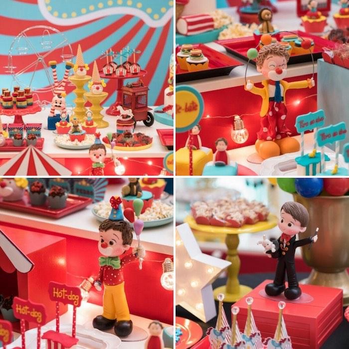 Circus Figurines + Decor from a Circus + Amusement Park Birthday Party on Kara's Party Ideas | KarasPartyIdeas.com (4)