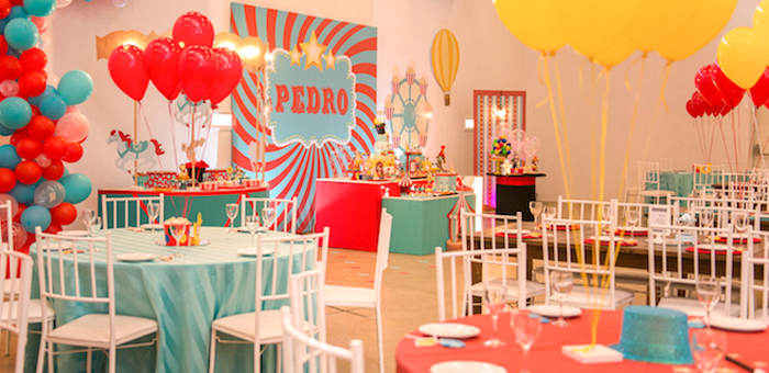 Circus + Amusement Park Birthday Party on Kara's Party Ideas | KarasPartyIdeas.com (1)