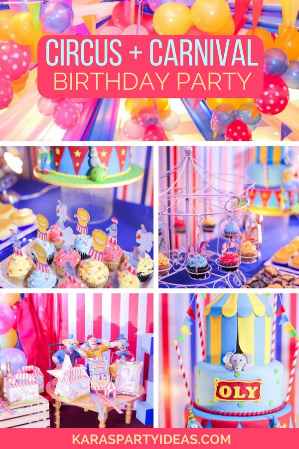 Circus + Carnival Birthday Party via Kara_s Party Ideas - KarasPartyIdeas.com