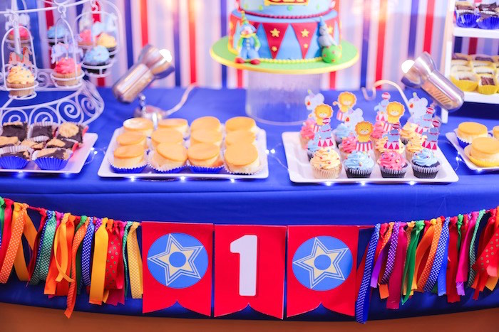 Sweet Table from a Circus + Carnival Birthday Party on Kara's Party Ideas | KarasPartyIdeas.com (9)